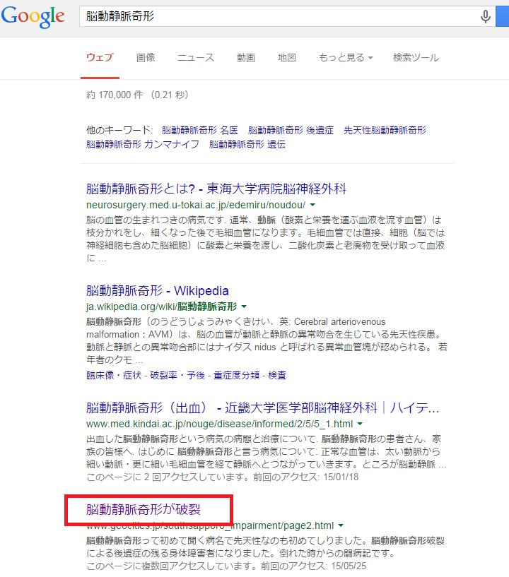 google検索結果